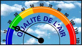 Centre-ville d'Ottawa Air Quality Index = 18
