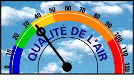 Centre-ville d'Ottawa Air Quality Index = 35